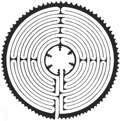 FIG. 2.—Maze in Chartres Cathedral.