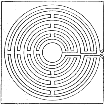 FIG. 3.—Maze in Lucca Cathedral.