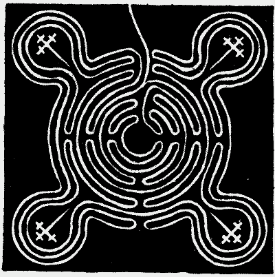 FIG. 5.—Maze at Sneinton, Nottinghamshire.
