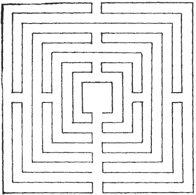 FIG. 9.—Maze on St. Catherine's Hill, Winchester.