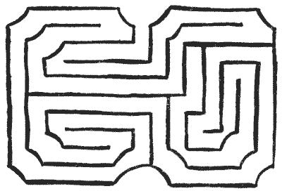 FIG. 13.—By the Designers of Hampton Court Maze.