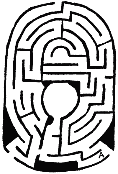 FIG. 17.—Maze formerly at South Kensington.